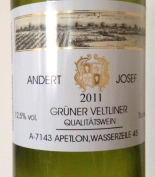 austria Uncorked. Andert Josef Grüner Veltliner 2011. Lively aromas of spice, tropical fruit, vanilla, peaches, & apricots. The bouquet follows through similarly with more tree fruit, honeycomb, grapefruit and spice. Complex, with a very long and satisfy