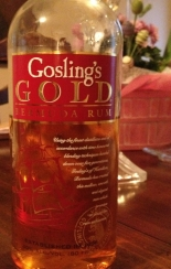 Gosling's Gold Bermuda Rum: smooth elegance. We made our own version of Black & Stormy with it. Mmm.