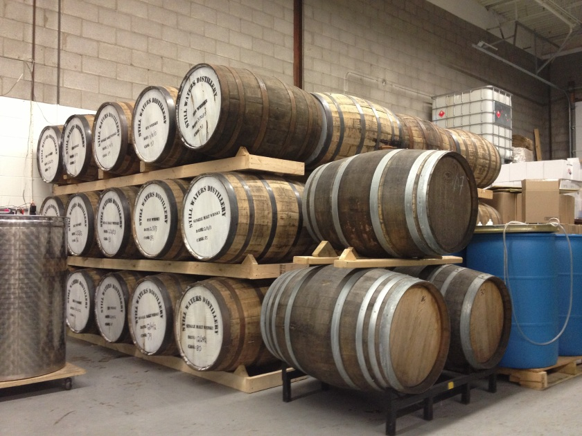 Still Waters Barrels lovingly aging whisky